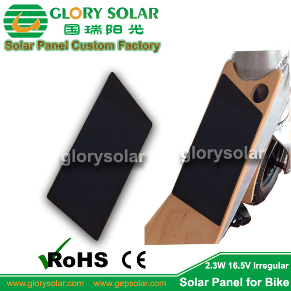 Small Size Custom Design Irregular Parallelogram Trapezoid Solar Panel For E-bike Plateform From China Factory