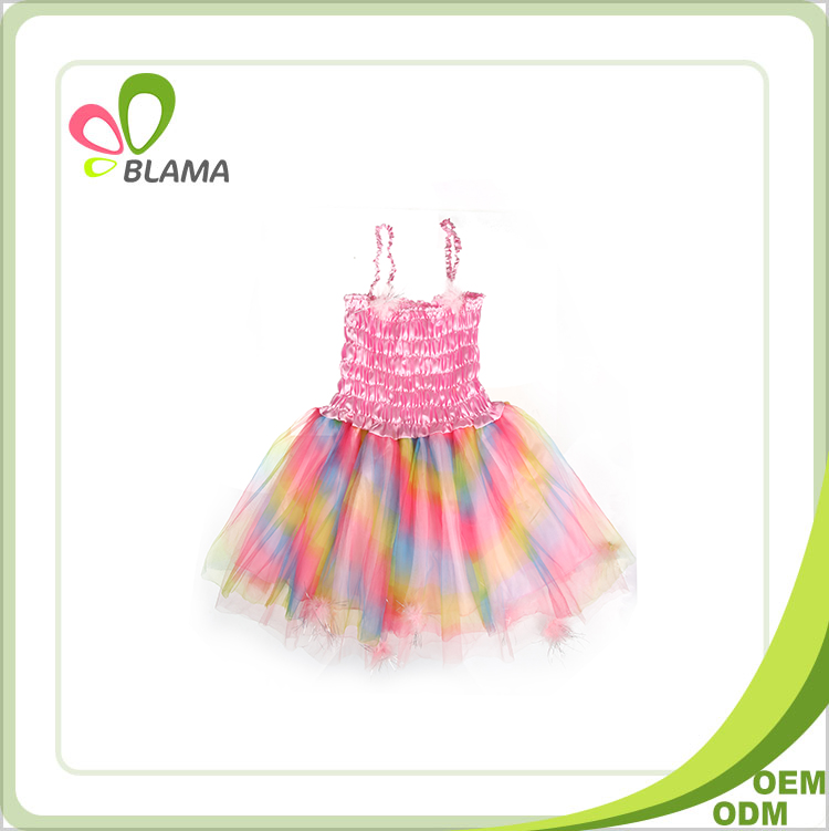 girls fashion puffy dance kids princess dress