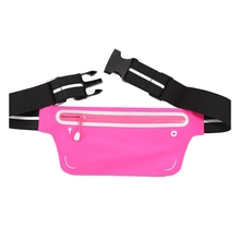 Ultra Thin Private Logo Lycra Spandex Promotional Jogging Hiking Sports Outdoor Unisex Reflective Strip Running Belt Waist Pack