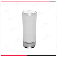 the factory 2.5oz glass beer mug for sublimation