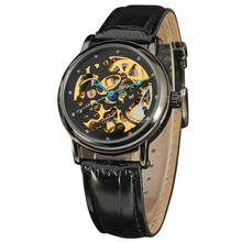 New products 2016 Skeleton Menchanical Watch Men Automatic Wrist Watch Wholse Relogios