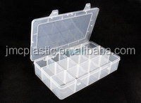 15 transparent beaded jewelry accessories Diamond Drill containing painted plastic packing box