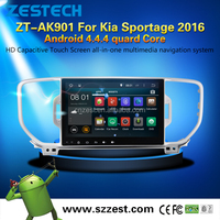 2Din Android car dvd player GPS navigation for Kia sportage 2016 multimedia,radio am/fm,front camera