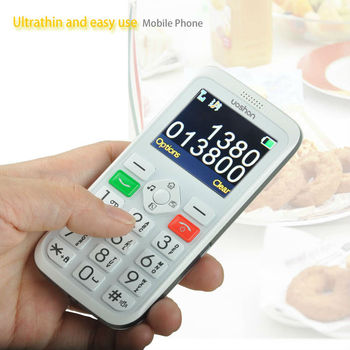 1.2cm thickness slim big keyboard mobile phone for elderly with panic button elderly