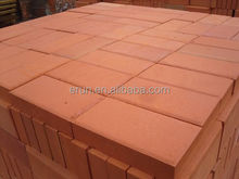 Standard red clay paving bricks price for sale
