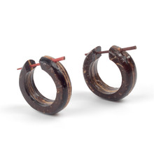 Costume national style temperament earrings wooden classic handle minute circle earrings wood earrings fashion jewellery