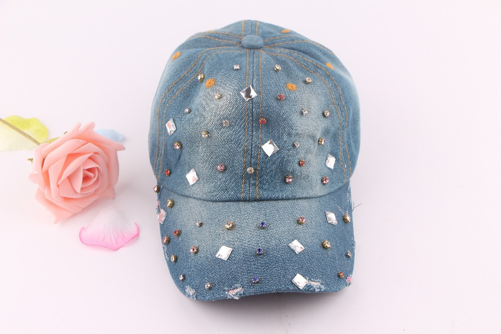 cowboy hat,female spring autumn cowboy flat-topped sun hat female tide Cowboy hat skeleton rivet