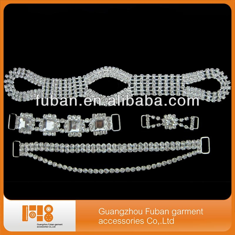 high quality wholesale rhinestone connectors for bikini