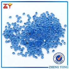 Wuzhou Diamond Cut Round Blue Nano Gemstones For Wax Setting