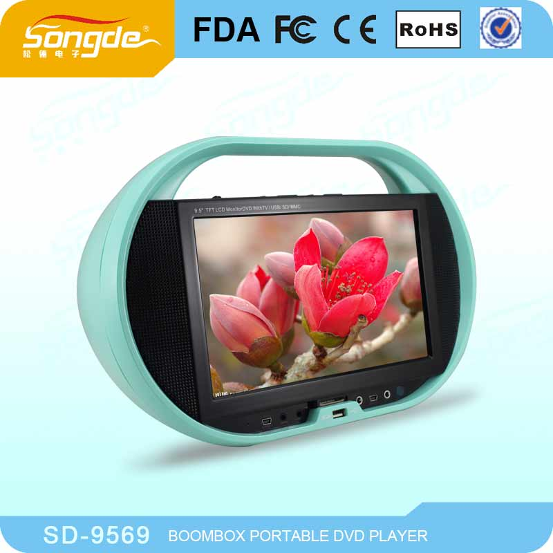 "9"" high definition portable tv dvd with usb,sd,game,av"