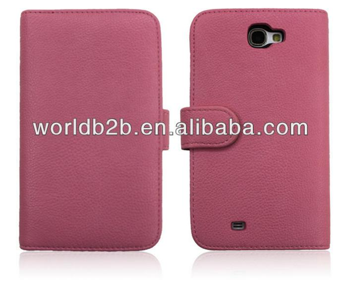 Book style Leather Flip Cover Case for Samsung Galaxy Note 2/N7100