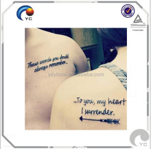 A4 size temporary tattoo water transfer paper for laser printer or inkjet printer
