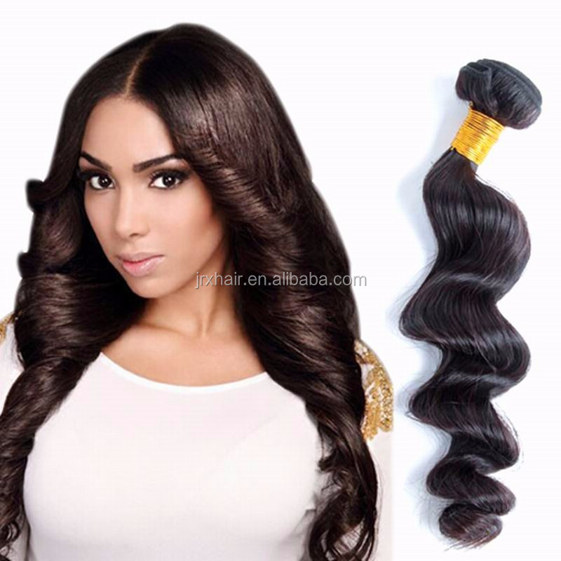 16 18 20 inch straight human hair weave Standard Weight cheap natural color rebonding singapore loose wave hair with closure