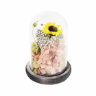 New design Fashionable Artistic Nature Real Preserved flower in Glass for gift present hansel