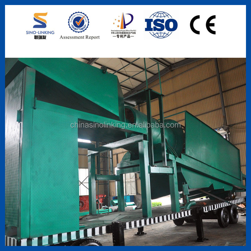 Portable Gold Trommel Separating Machine from China Sinolinking