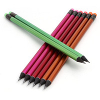 Fashion hb pencil with color eraser pencil wholesale nature black wood pencil