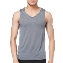 Fashion Men's Clothing T-Shirt All Over Print Sport Wear Running Polyester Spandex Plain Campaign Materials Men's Tank Top