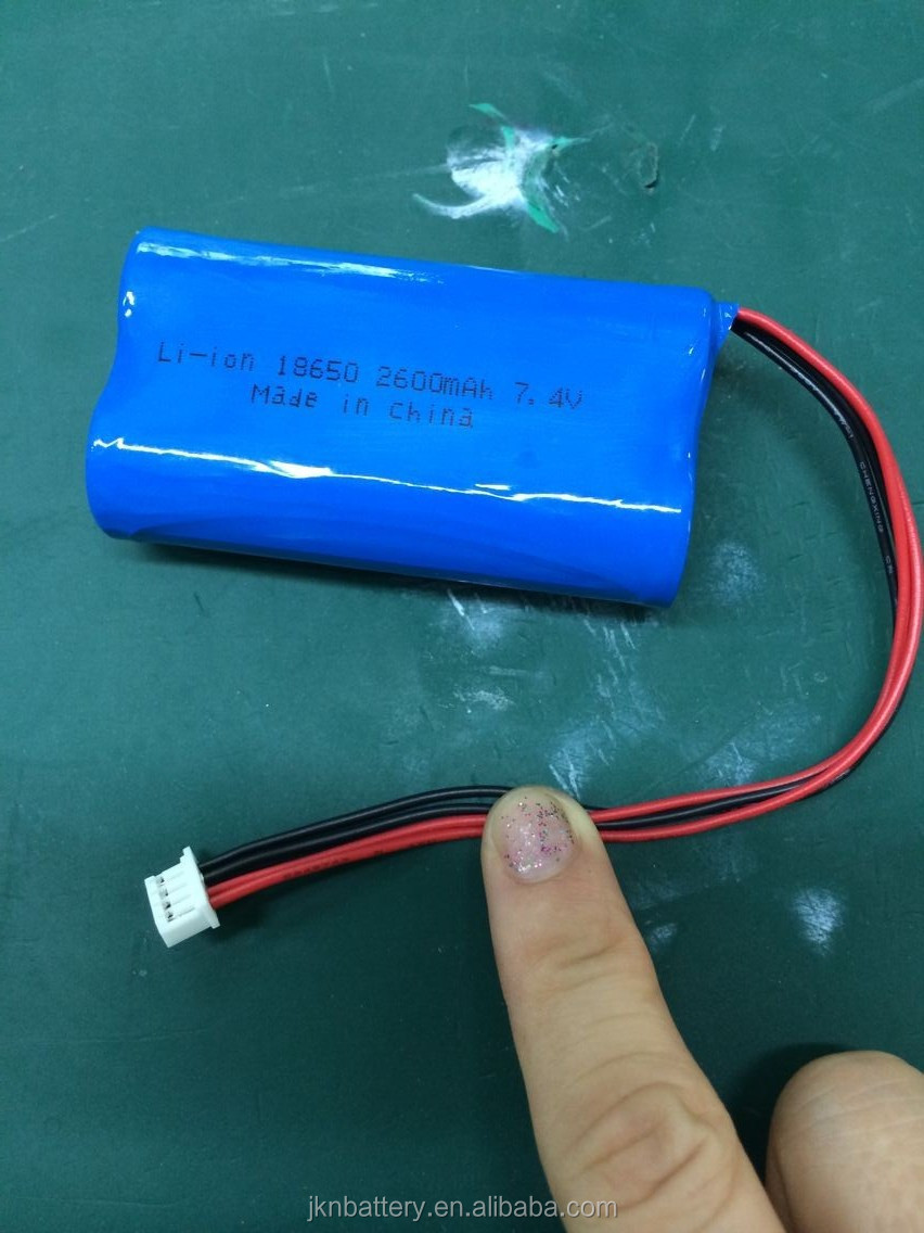 18650 rechargeable li-ion battery pack 7.4v 600mah 800mah 1200mah 1500mah 2000mah 2200mah 2400mah 2500mah2600mah on sale