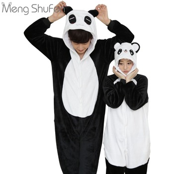 Hot Cartoon Animals Conjoined Pajamas Cute Chinese Black&White Panda Suits Home Clothes Men Lovers Ladies Manufacturers Batch