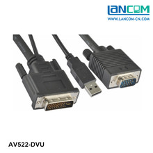 vga to dvi converter Cable Single Link DVI TO VGA with USB Cable for Computer,TV set,DVD Players