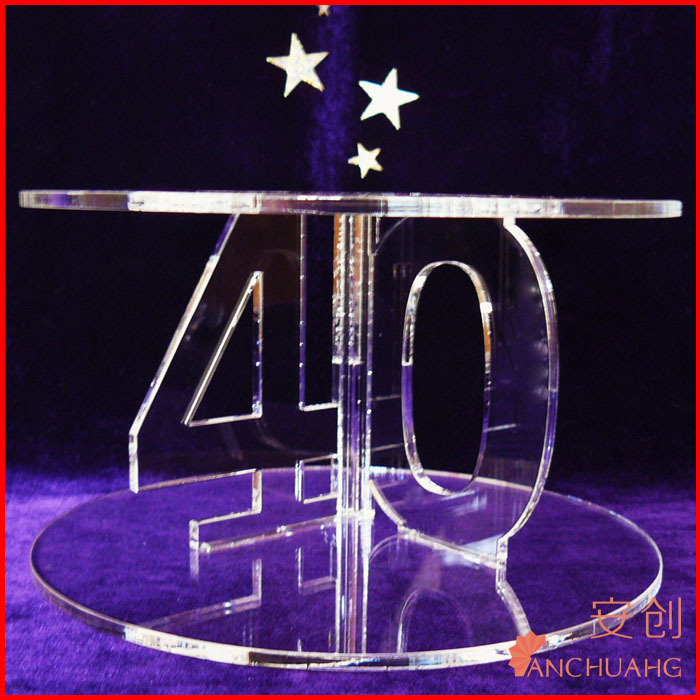 Custom Acrylic Birthday Cake Stand/Display with Number