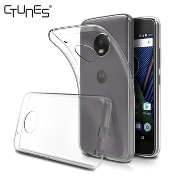 For Moto G5 Plus Case, Flexible Clear TPU Gel Rubber Soft Skin Protective Case Cover For Motorola Moto G5 Plus