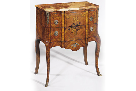 French antique bedroom nightstand