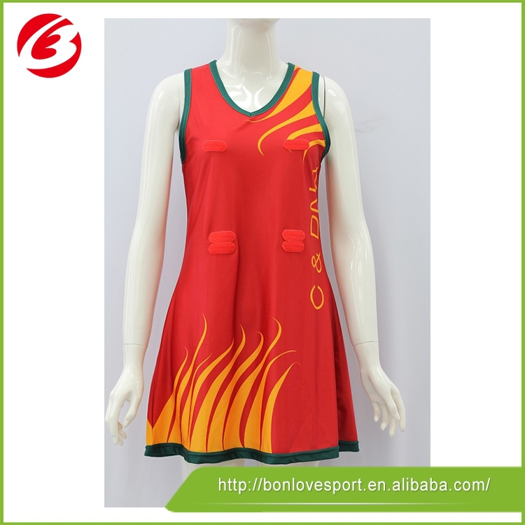 Sports Tennis Wear custom sublimation a lined shirt/netball jersey/netball skirt