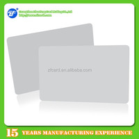 PVC white fudan f08 chip nfc smart card for custom printing