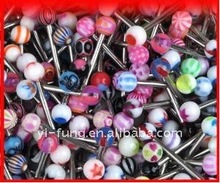 20 Assorted Surgical Steel Barbell Tongue Rings 14 Gauge