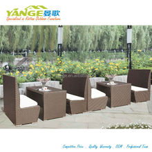 plastic rattan chair night club chair and table bar set