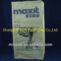 25kg white kraft paper cement/mortar bags