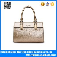 Alibaba hot sale new design lady luxury elegant floral tote handbags women bags women handbag made in China