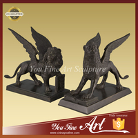 Bronze Flying Lion Statue For Garden Decoration