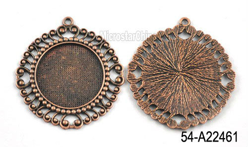 49mm bezel cabochon round trays