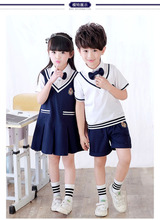 cheap chinese pictures 100% cotton logo design bulk private unisex graduation kindergarten children primary kids school uniform
