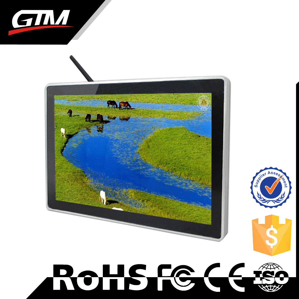 "32"" wifi lcd all in one pc monitor video touch screen lcd ad tv lcd built in media player multimedia information kiosk"