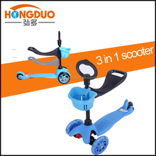 Boys second hand scooters/cheap 3 in 1 scooter