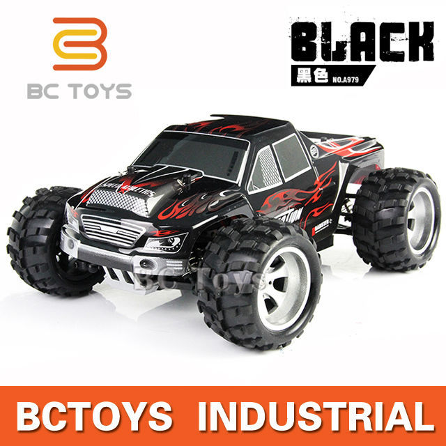 Reality design 2.4G 1:18-wheel-drive rc toy monster truck metal with 50KM/H speeds.