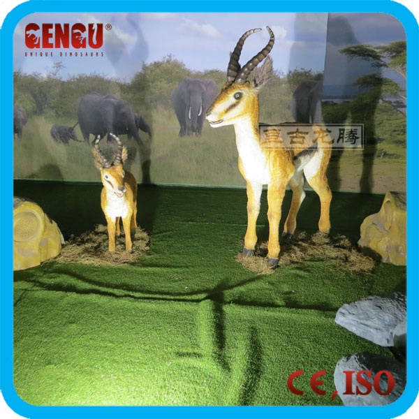 Amusement park high quality attractive life size deer statues