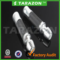 hot sale new design high quality silver CNC milled motorcycle handlebar hand grips universal