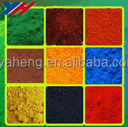 Purity 95% ceramic color powder iron oxide red black yellow pigments for pavers/bricks/blocks/color cement