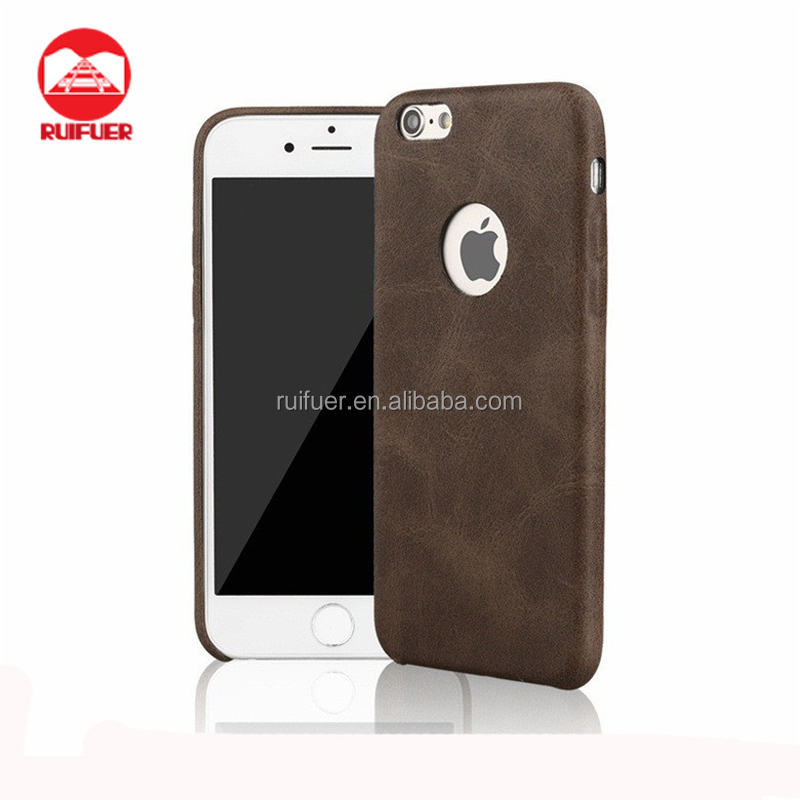 Wholesale New Luxury Ultra Thin Slim Retro Soft PU Leather Back Case Cover For iPhone 7 Plus