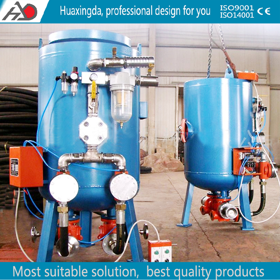 wet sandblasting machines/Air blasting pot machinery
