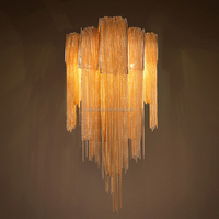 Aluminum Chain Tassel Chandelier Wall Lamp Wall Sconce Light Lighting Fixture CZ117