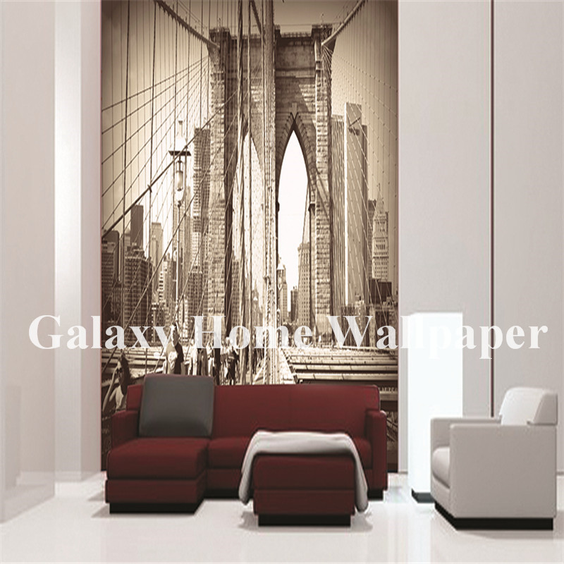 European architectural style wallpaper vinyl mural waterproof wallpaper for hotel