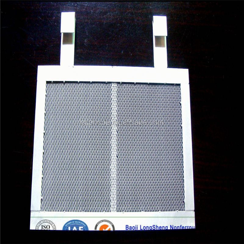 platinized titanium anode plate mesh for hho generator