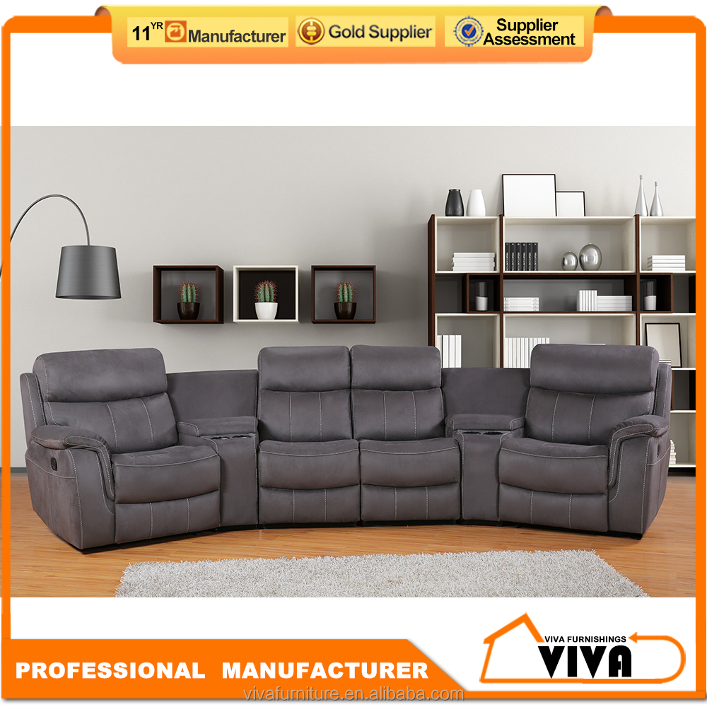 Sofa design cinema chair recliner with cup holders