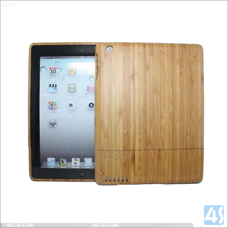 Factory OEM Shockproof tablet case Wood Hard Case for iPad 2/3/4 ,wooden cases for Apple iPad 2