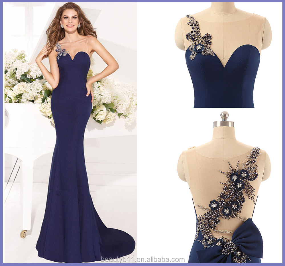 Elegant Evening dress party gowns A-line one shoulder Floor-length chiffon Prom dress AS225
